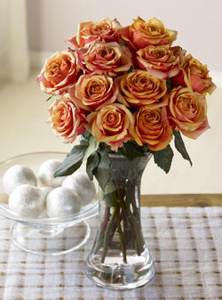 One Dozen Majestic Sunset Roses