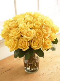 Two Dozen Yellow Sunshine Roses