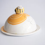 Bee Butter Dish in Orange