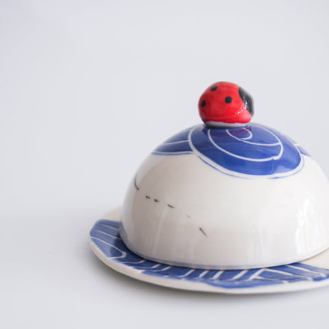 Ladybird Butter Dish, 2 colours available