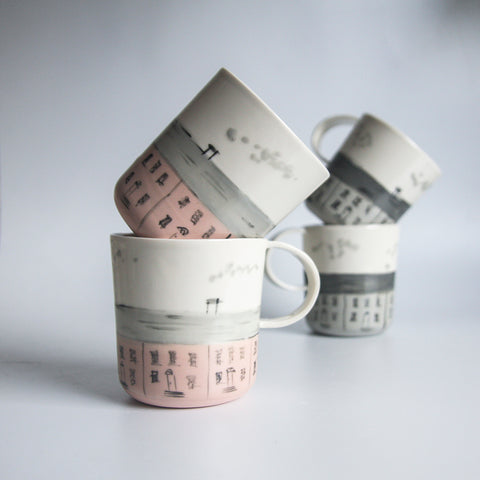 OLD DUBLIN Cups, 2 shapes and 2 colour options