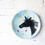 Black Pony - Ceramic Plate