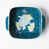 Square Oven Dish with Handles - Full Moon