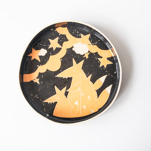 Tart Dish - Foxes at Night