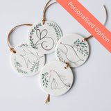 Personalised Disc Ornaments, 2 weeks lead time