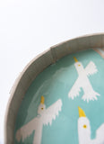 Tart Dish for wall hanging (celadon seagull)