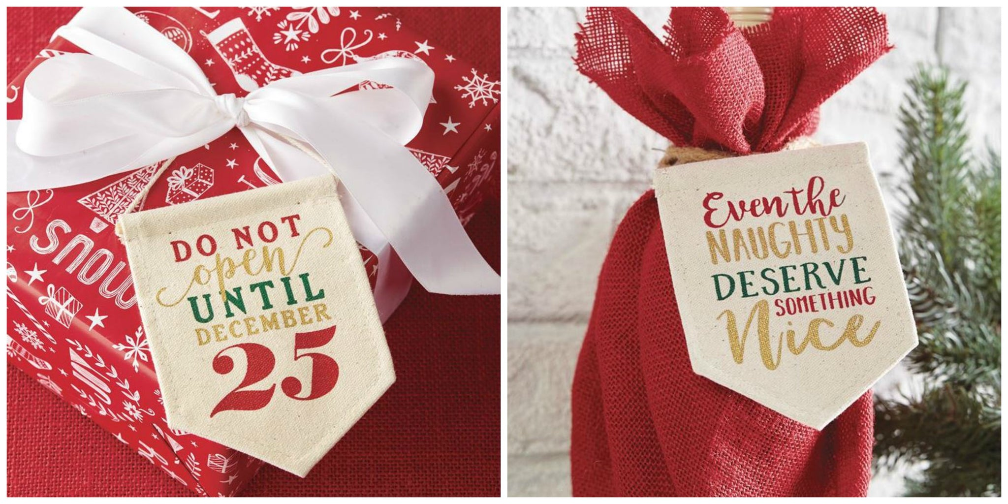 Stocking Stuffer Idea #2: Holiday Mini Banner Gift Card Holder