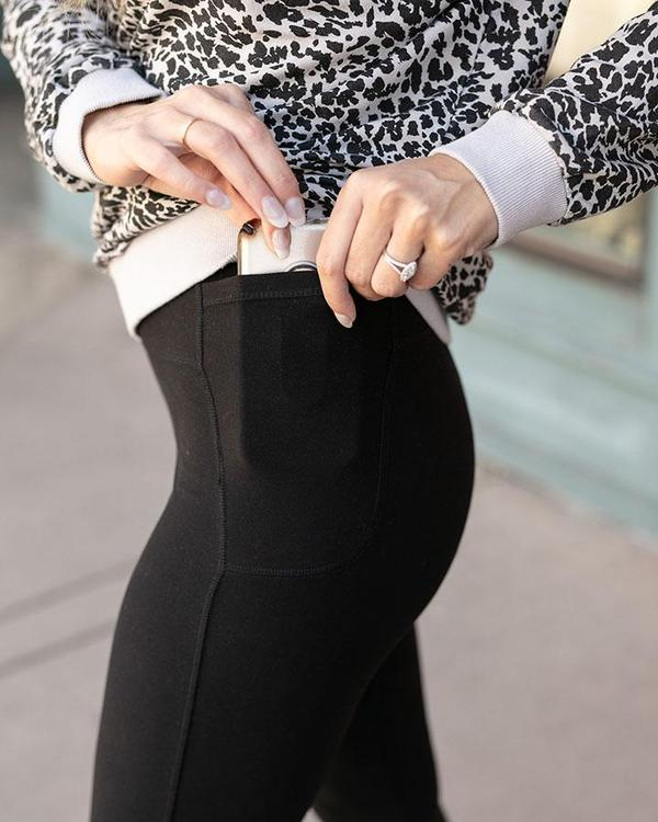 Grace & Lace Live-In Pocket Leggings - Black