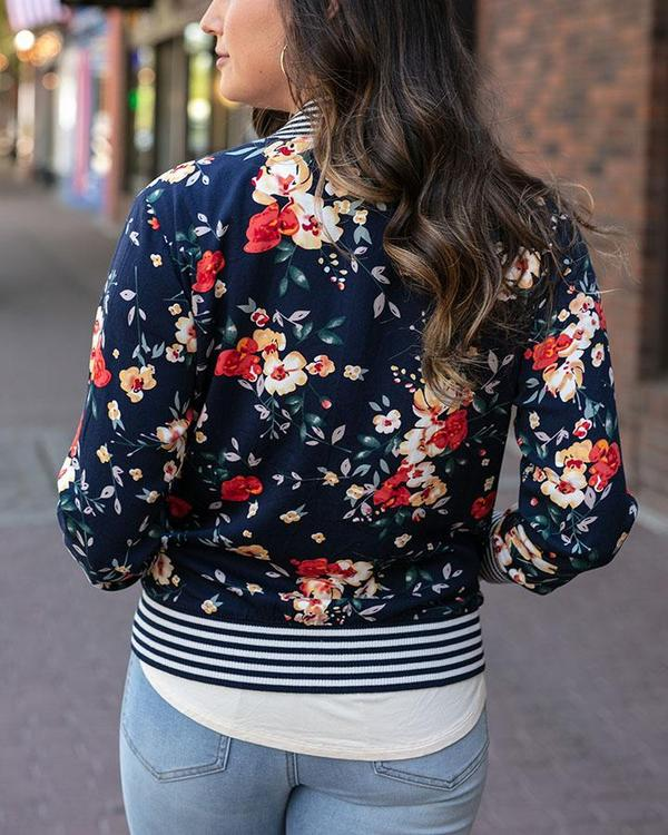 Grace & Lace Floral Bomber Jacket - Midnight Floral