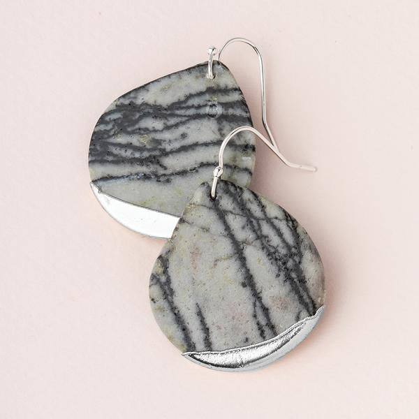 Scout Curated Wears Stone Dipped Teardrop Earring - Picasso Jasper