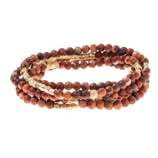 Scout Curated Wears Stone Wrap Bracelet/Necklace - Red Jasper