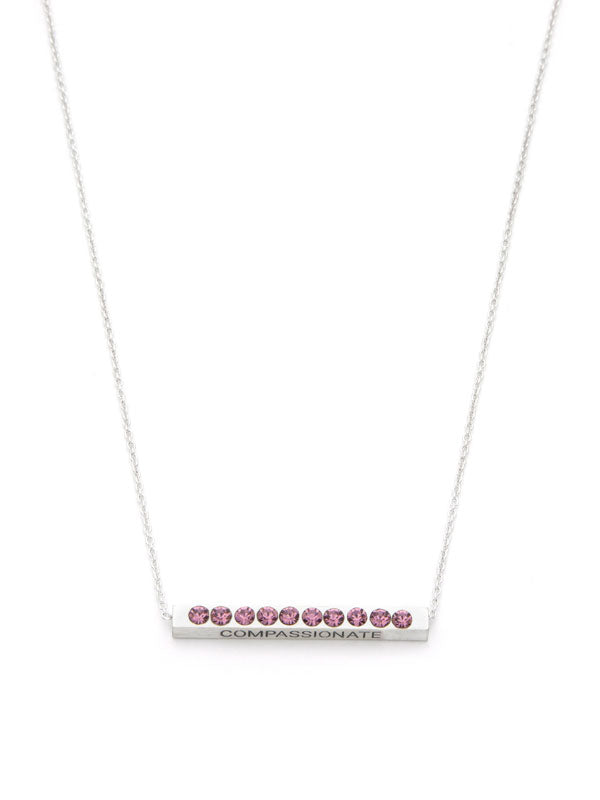 Laura Janelle by Cousin Birthstone Bar Necklace - Silver