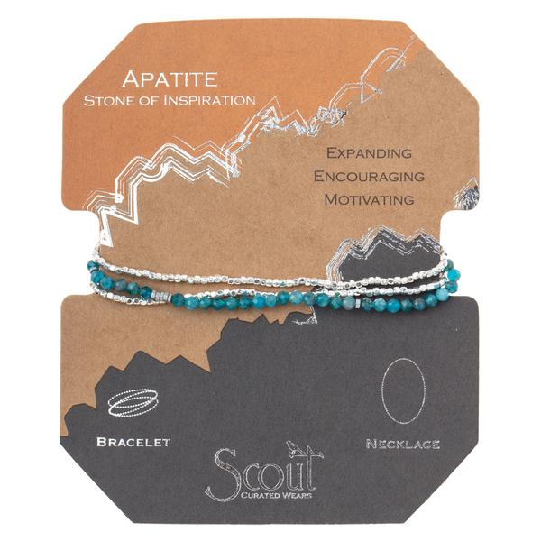 Scout Curated Wears Delicate Stone Wrap Bracelet/Necklace - Apatite