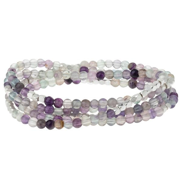 Scout Curated Wears Stone Wrap Bracelet/Necklace - Fluorite