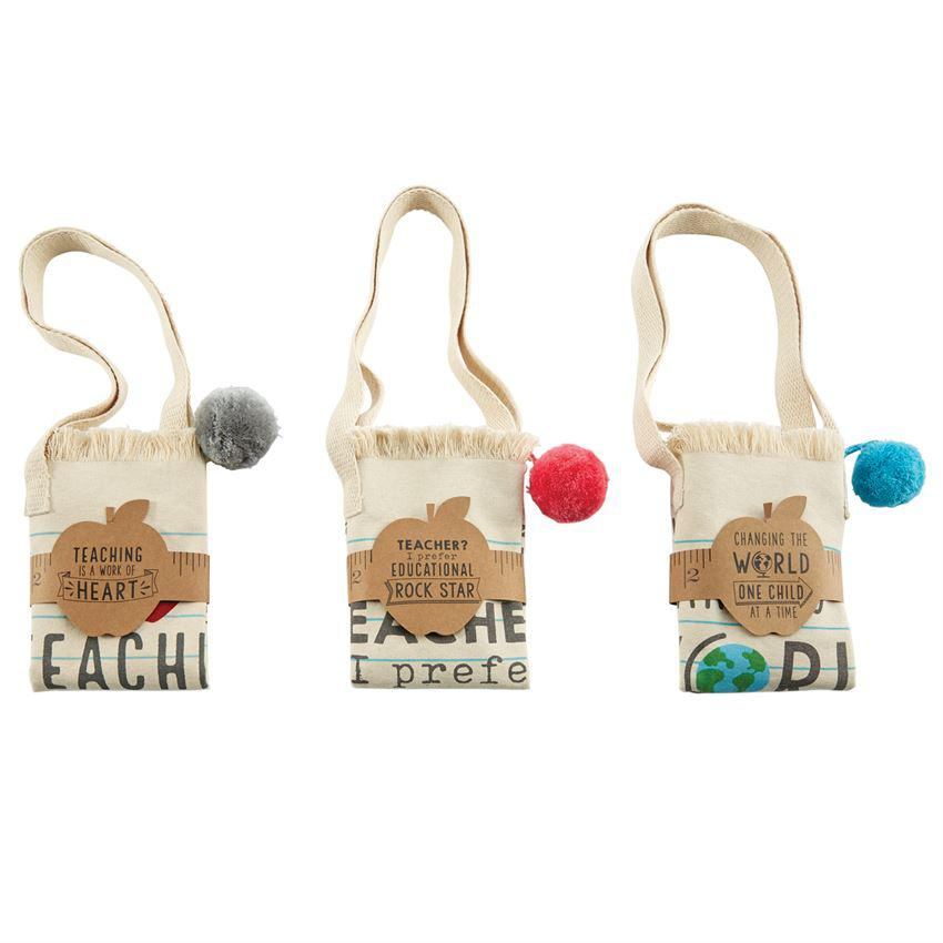 Mud Pie Pom Pom Teacher Tote