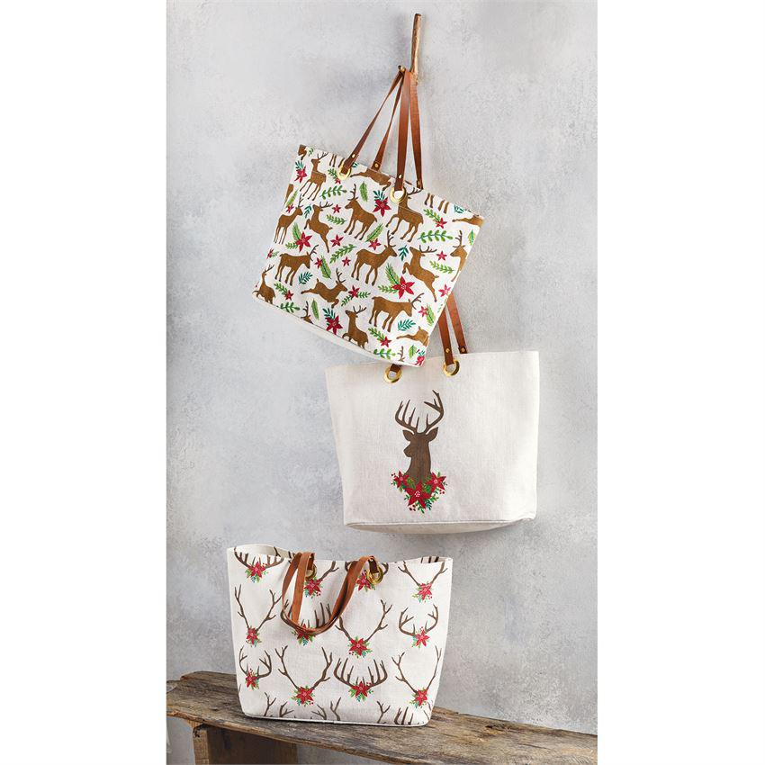 Mud Pie Deer Jute Tote