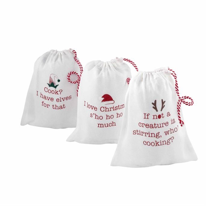 Mud Pie Christmas Apron in a Bag