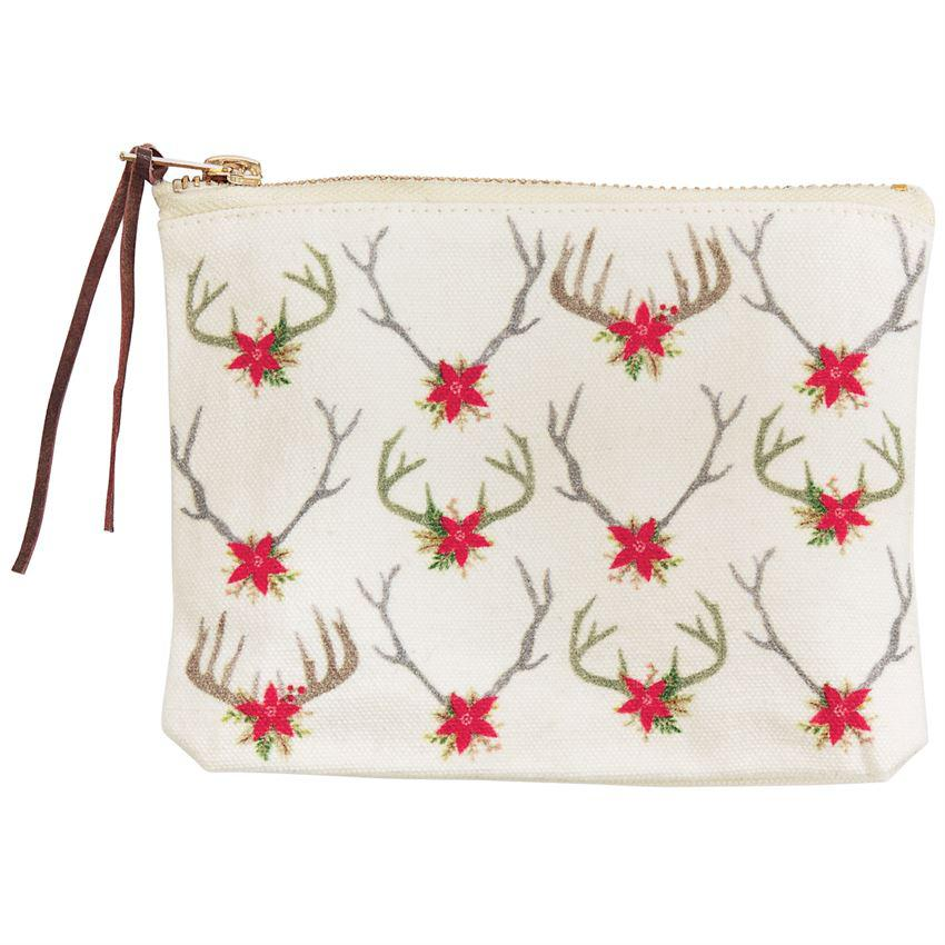 Mud Pie Deer Zipper Pouches
