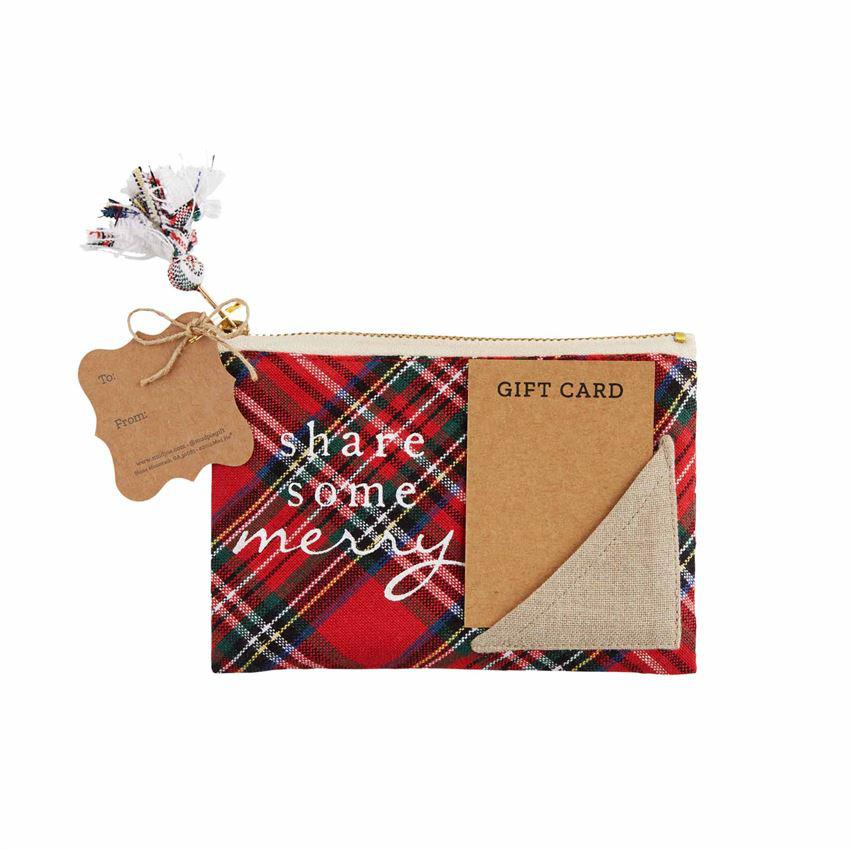 Mud Pie Plaid Zipper Gift Pouch
