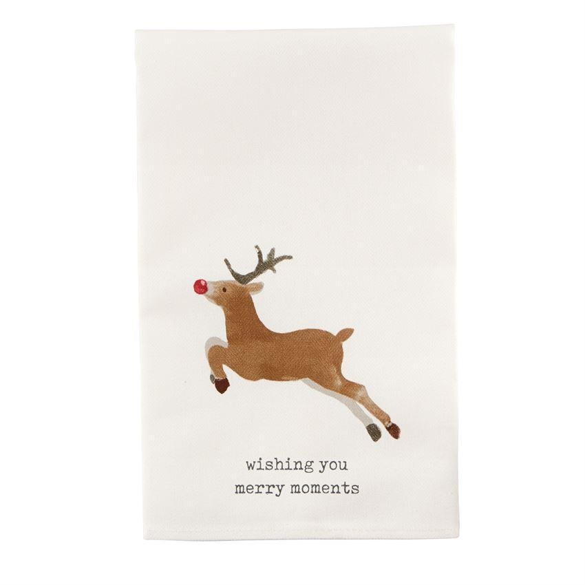 Mud Pie Christmas Icon Tea Towels