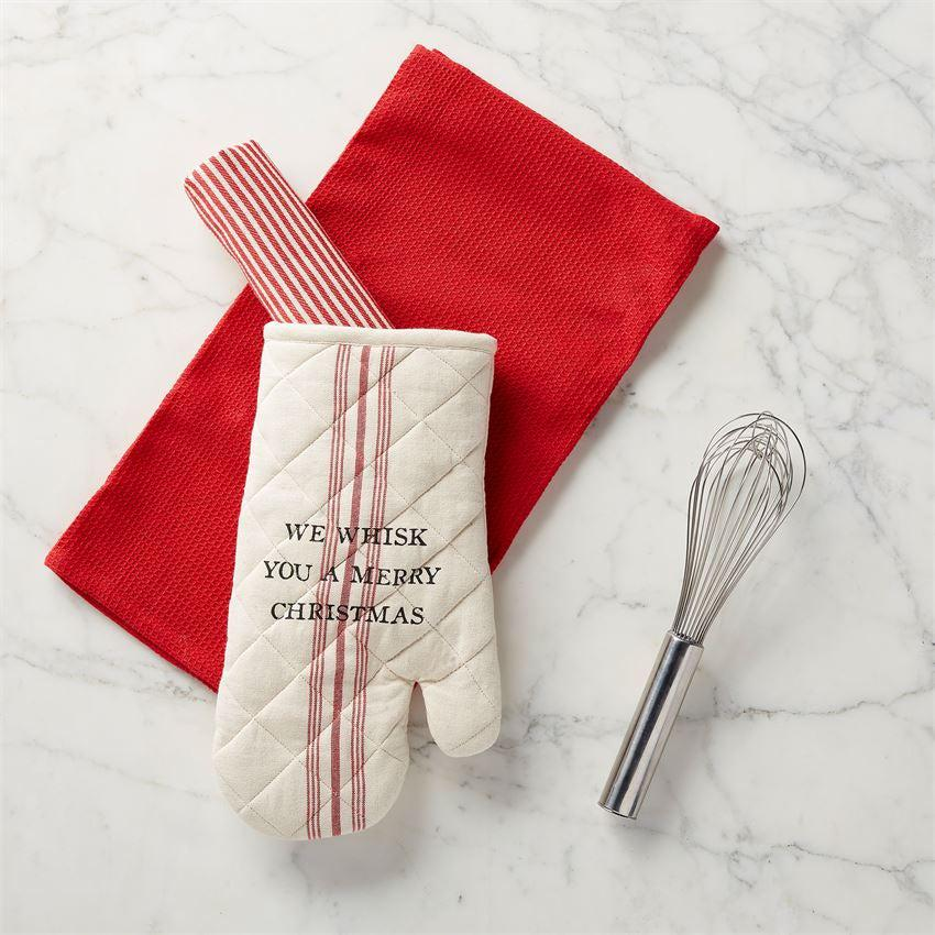 Mud Pie Christmas Oven Mitt & Towel Set
