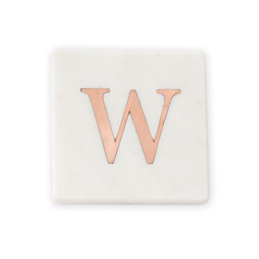 Mud Pie Initial Marble Coaster