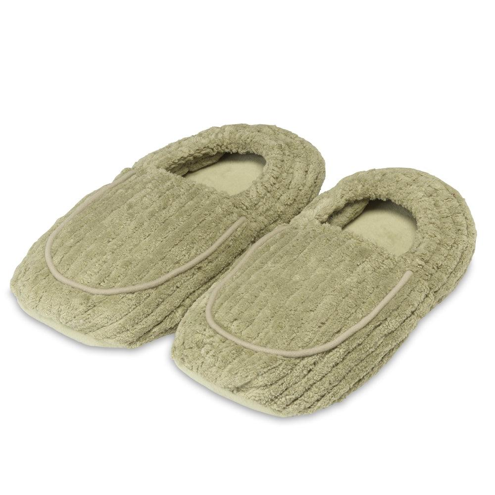 Warmies Spa Therapy Slippers - Green
