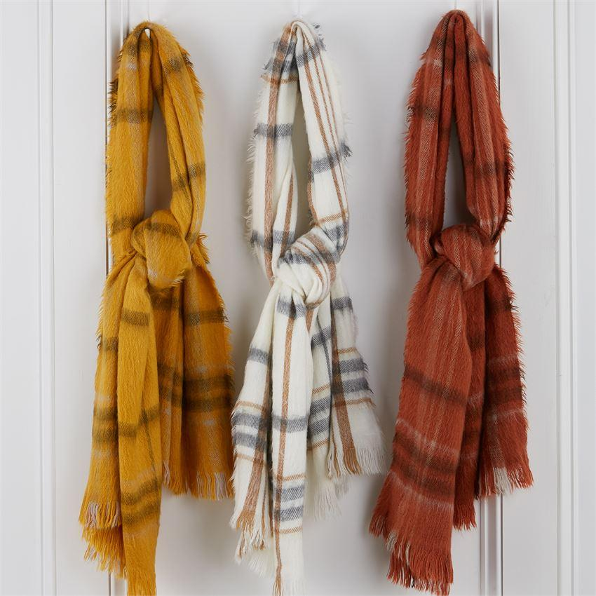 Mud Pie Brushed Plaid Scarf