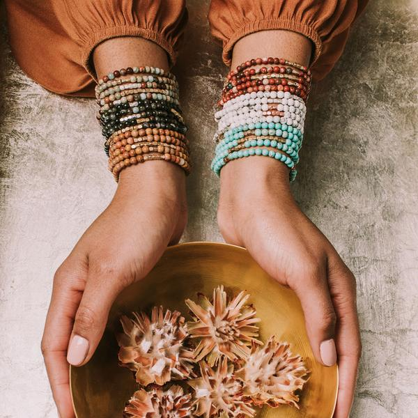 Scout Curated Wears Stone Wrap Bracelet/Necklace - Petrified Wood