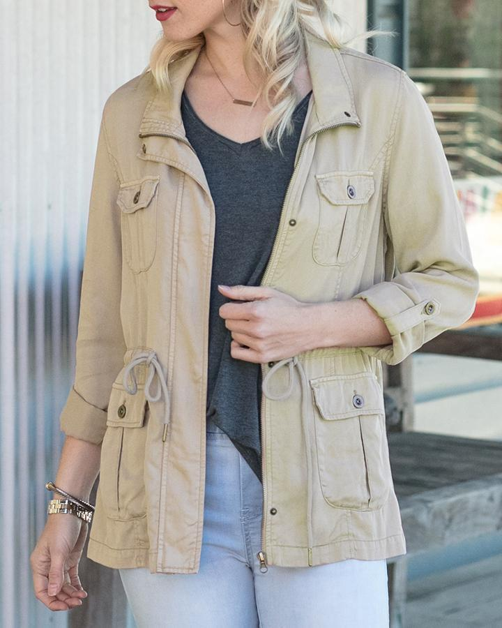 Grace and Lace Tencel Cargo Jacket