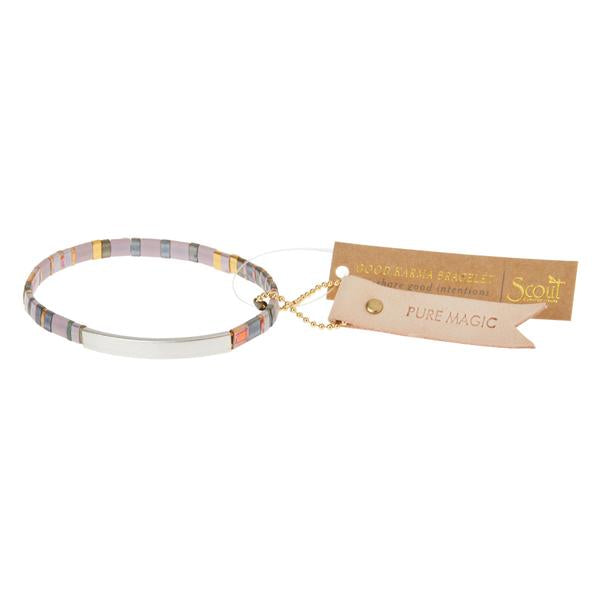 Scout Curated Wears Good Karma Miyuki Bracelet - Pure Magic