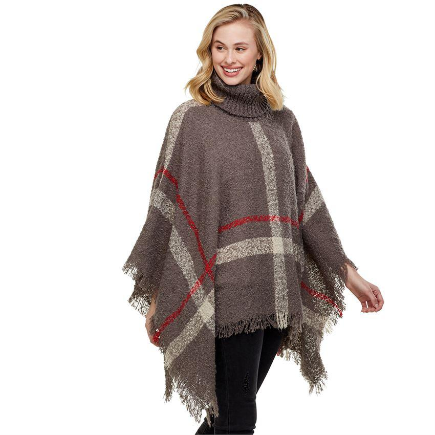 Mud Pie Logan Turtleneck Poncho