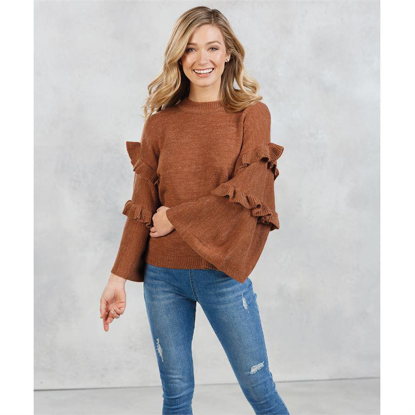 Mud Pie Ramsey Ruffle Sleeve Sweater