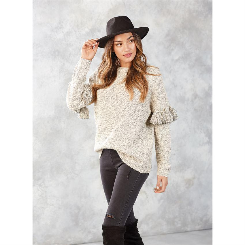 Mud Pie Davie Tassel Sleeve Sweater