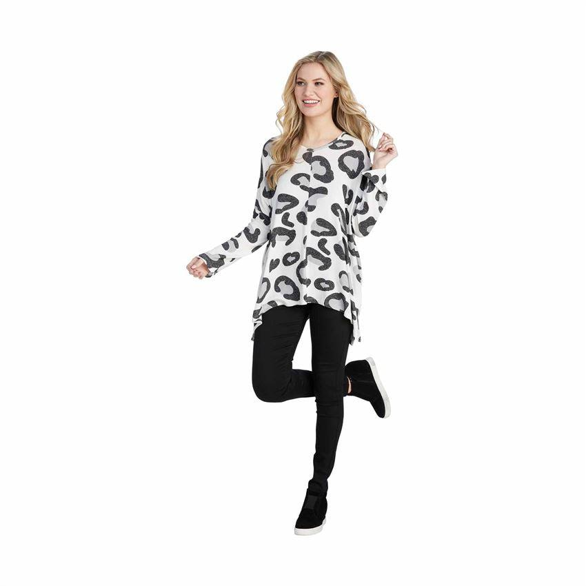 Mud Pie Elsie Tunic - Gray Leopard