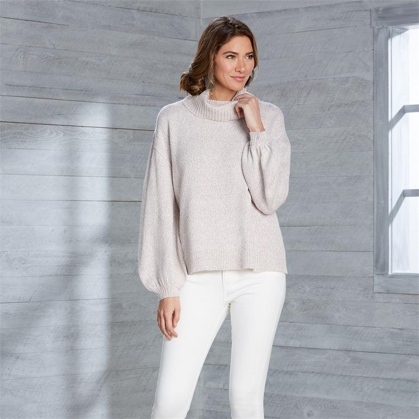 Mud Pie Audrey Turtleneck - Blush