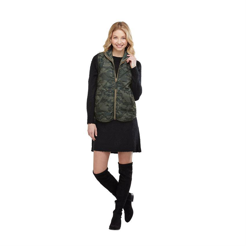 Mud Pie Brodie Quilted Vest - Camo