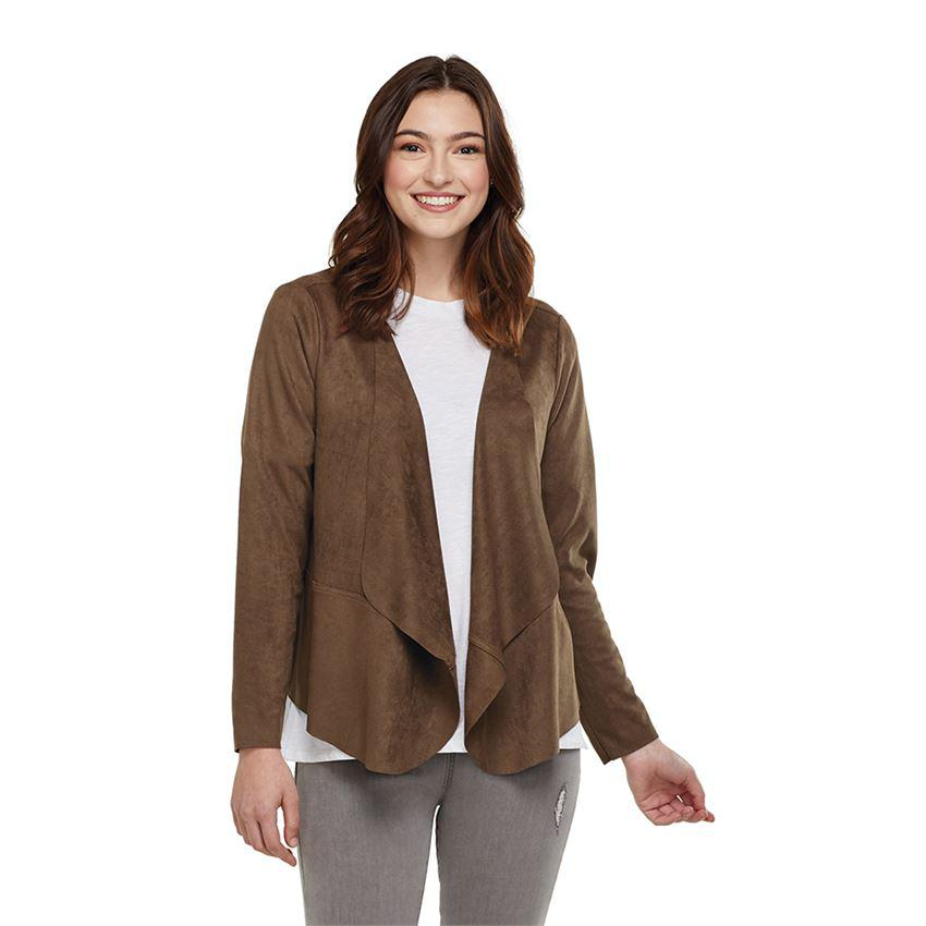 Mud Pie Sammy Suede Jacket - Olive