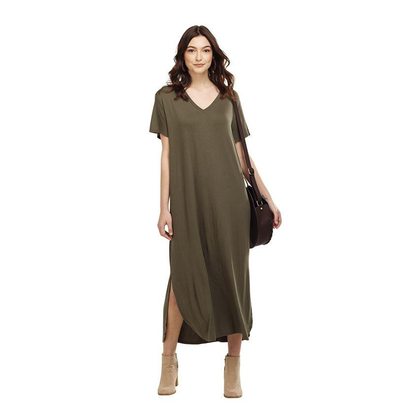 Mud Pie Jojo Jersey Midi Dress - Olive