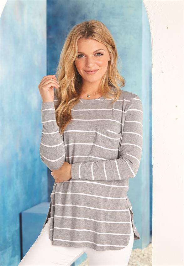 Mud Pie Noah Jersey Top - Stripes
