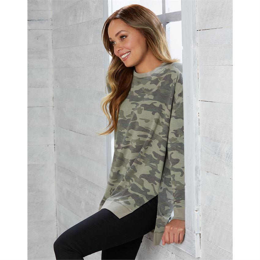 Mud Pie Fanning Sweatshirt - Green Camo