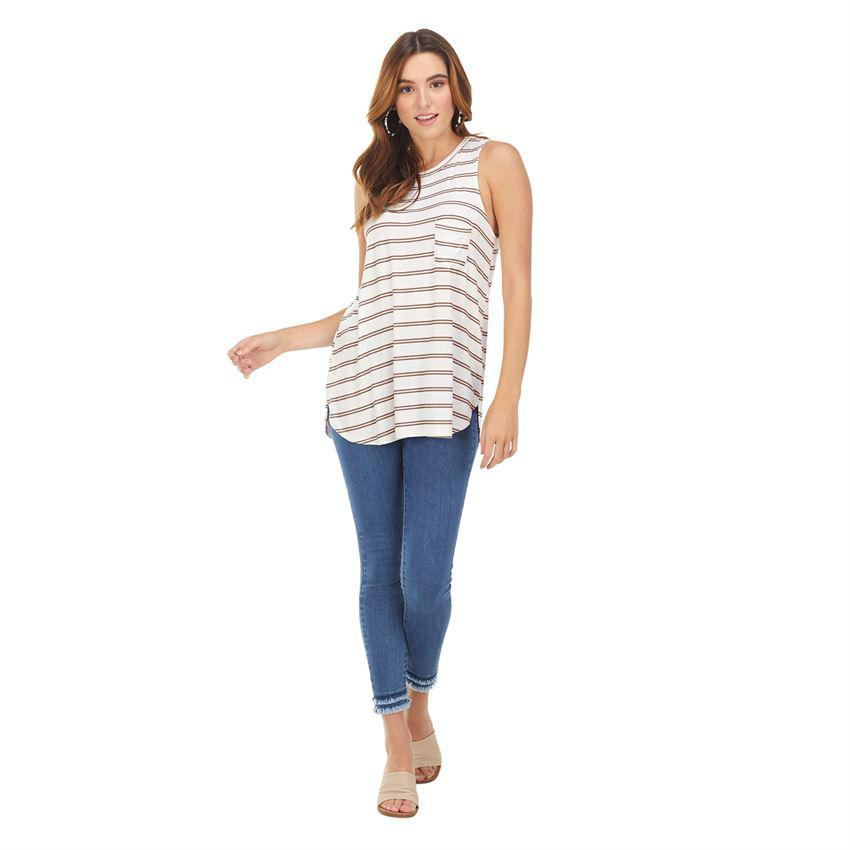 Mud Pie Cason Tank - White Stripe
