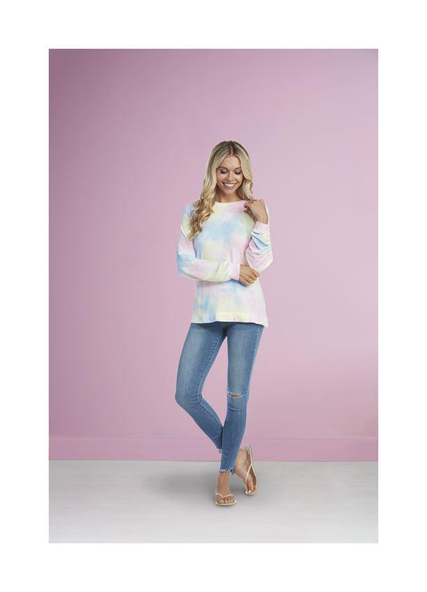 Mud Pie Bryant Tie Dye Sweatshirt - Multi