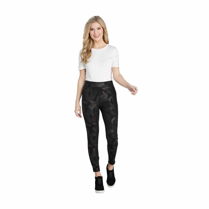 Mud Pie Pearson Faux Leather Camo Leggings