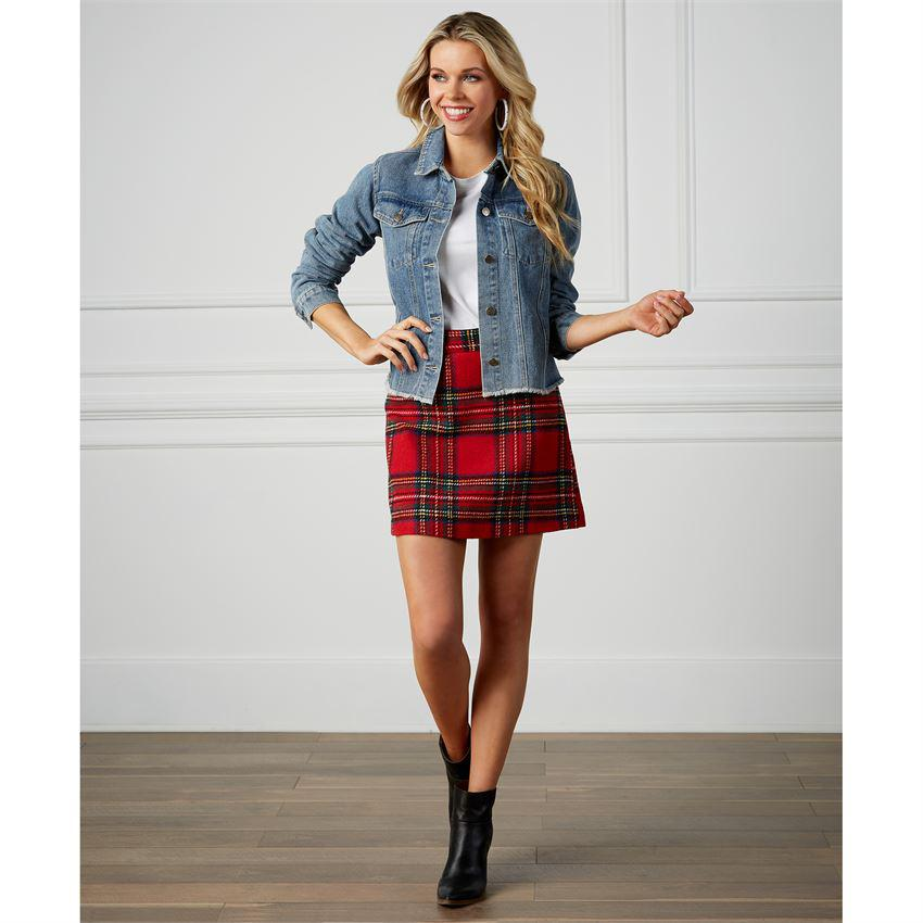 Mud Pie Margie Plaid Skirt
