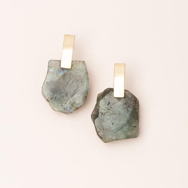 Scout Curated Wears Stone Slice Earring - Labradorite