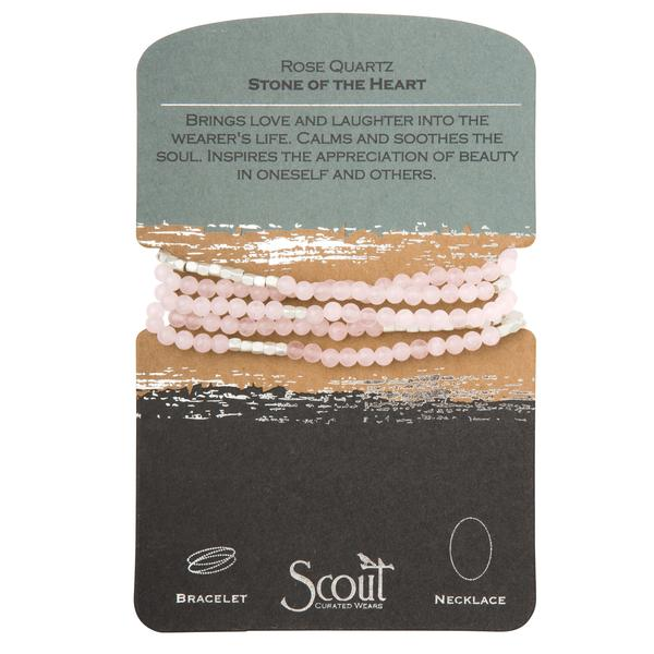 Scout Curated Wears Stone Wrap Bracelet/Necklace - Rose Quartz
