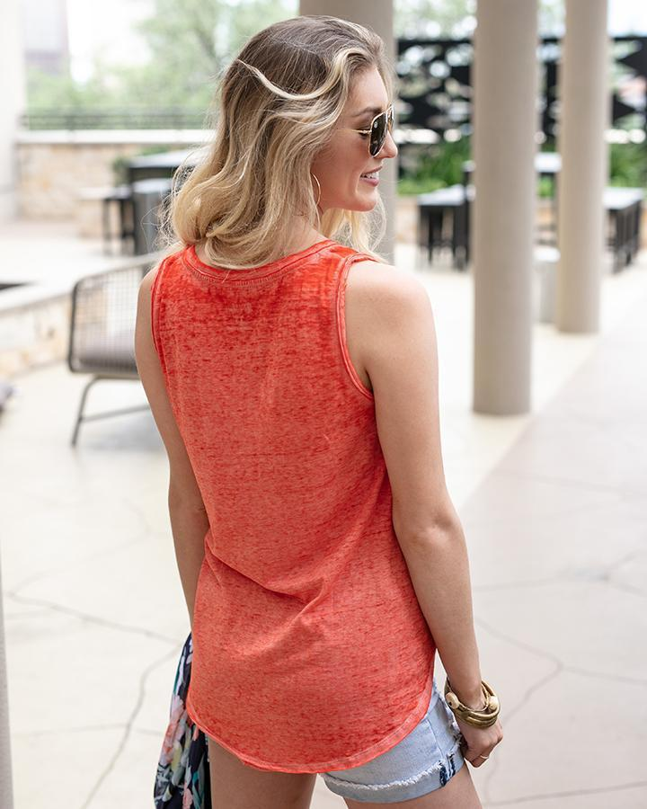 Grace & Lace Burnout Pocket Tank