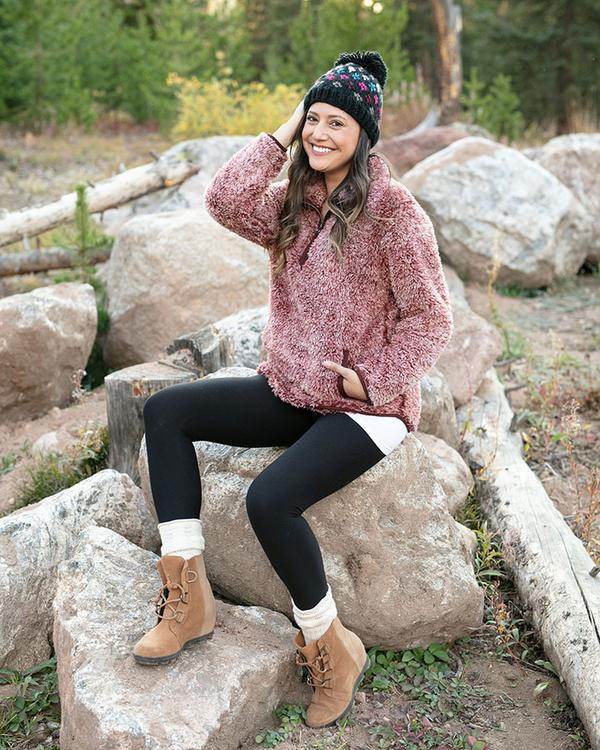 Grace & Lace Fleece Sherpa Pullover