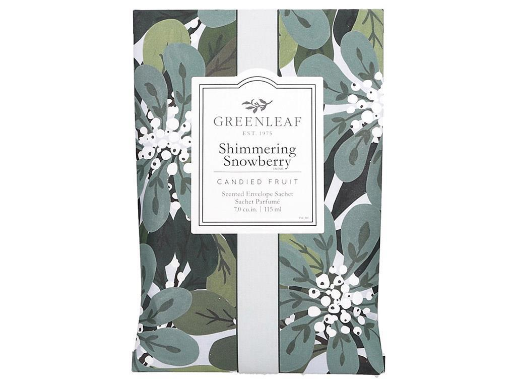 Greenleaf Large Sachet - Shimmering Snowberry